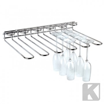 Glassoppheng 45 x 32cm stål For vegg/tak 5 rails