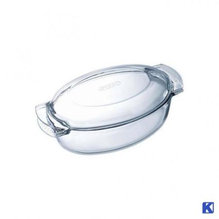 Glass form med lokk